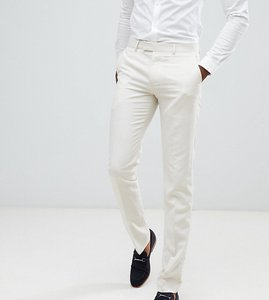 Read more about Farah skinny wedding suit trousers in linen - stone