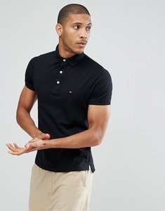Read more about Tommy hilfiger slim fit polo in black - flag black