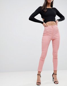 Read more about Asos design high waist trousers in skinny fit - soft pink