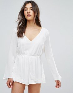 Read more about Qed london playsuit - white