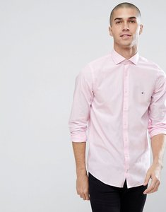 Read more about Tommy hilfiger slim fit flag logo shirt in pink - coral blush