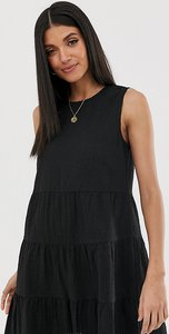 Read more about Asos design tall sleeveless tiered mini smock dress in seersucker