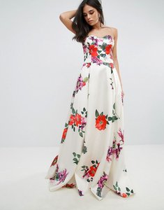 Read more about Forever unique sleeveless maxi floral prom dress - multi