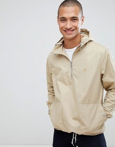 Read more about Farah colborne overhead hooded jacket in sand - beige
