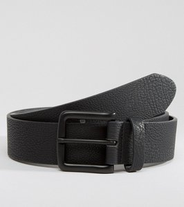 Read more about Asos faux leather wide belt with black coated buckle - black