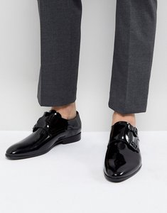 Read more about Zign patent monk shoes in black - black