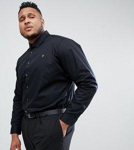 Read more about Farah plus slim smart shirt - black