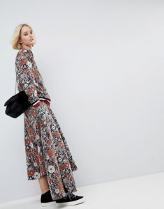Read more about Asos white floral sweat a-line skirt - multi