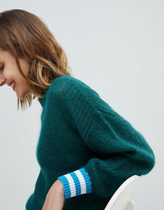 Read more about Essentiel antwerp knitted jumper with rib detail - smoke pine