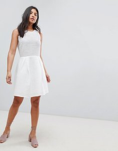 Read more about Deby debo pepita a-line dress - white
