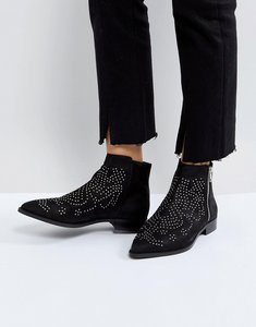 Read more about Asos auto pilot suede studded ankle boots - black suede