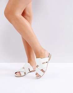 Read more about H by hudson leather flat sandal - white