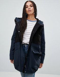 Read more about Parka london catelyn contrast parka coat - navy