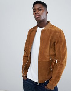 Read more about Esprit suede bomber jacket in tan - 270 beige