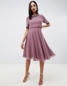 Read more about Asos design midi dress with 3d embellished neckline