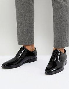 Read more about Aldo collamato patent lace up shoes - black