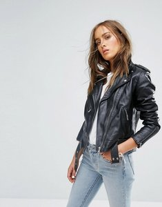 Read more about Levis leather moto jacket - black