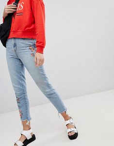Read more about New look embroidered mom jeans - light blue