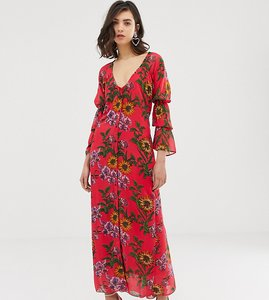 Read more about Dusty daze ruched front maxi dress in floral