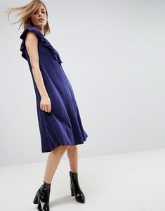 Read more about Asos t-shirt dress with frill detail - navy