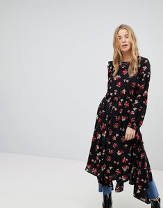Read more about Miss selfridge floral hanky hem dress - black based floral
