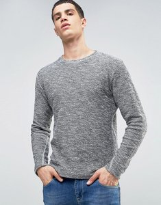 Read more about Solid sweatshirt in marl - black