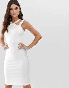 Read more about Vesper strappy front and back midi pencil dress in white