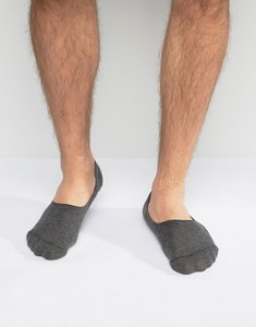 Read more about Asos invisible socks in charcoal - grey