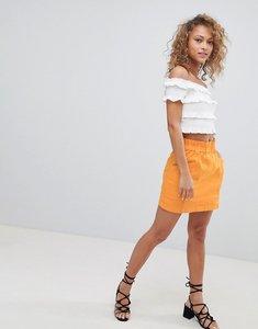 Read more about Miss selfridge paperbag waist skirt - ochre