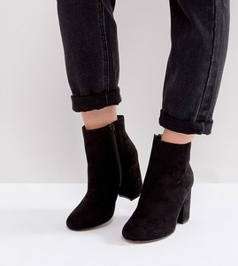 Read more about Asos raquel wide fit ankle boots - black