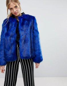 Read more about Bershka faux fur jacket - blue