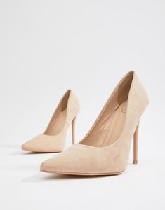 Read more about Missguided pointed court shoe - nude