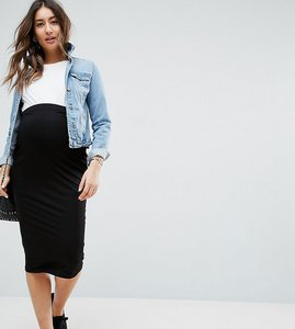 Read more about Asos maternity over the bump midi pencil skirt in jersey - black