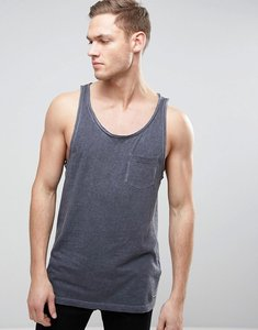 Read more about Esprit oil wash vest with chest pocket - 400 navy