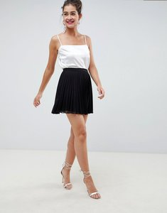 Read more about Asos design pleated chiffon mini skirt - black