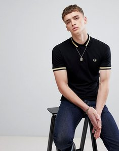Read more about Fred perry reissues single tipped polo in black - 157