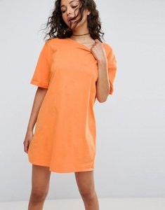Read more about Asos ultimate t-shirt dress with rolled sleeves - orange