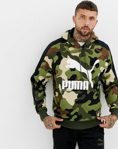 Read more about Puma pullover camo hoodie in green