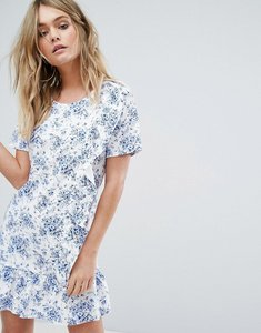 Read more about Missguided frill detail floral dress - white