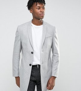 Read more about Noak skinny smart overcoat - light grey
