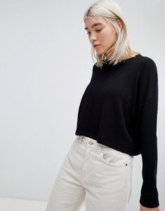 Read more about Asos oversized jumper with seam detail - black