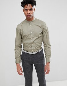 Read more about French connection grandad long sleeve shirt - lgt khaki
