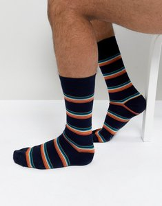 Read more about Paul smith artist block stripe socks in navy - navy