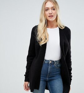Read more about Asos tall chunky knit cardigan in wool mix - black