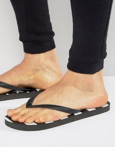 Read more about Cheats and thieves star flip flops - black