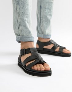 Read more about Dune chunky sandals in black leather - black