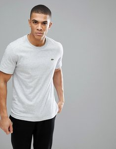 Read more about Lacoste sport logo tech t-shirt in light grey marl - cca