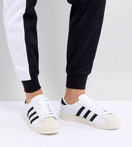Read more about Adidas originals superstar og trainers in white and black - white