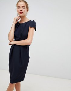 Read more about Closet london tie back short sleeve dress in navy - navy