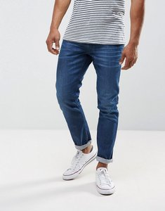 Read more about Replay anbass stretch slim jeans in mid wash metal blast - blue